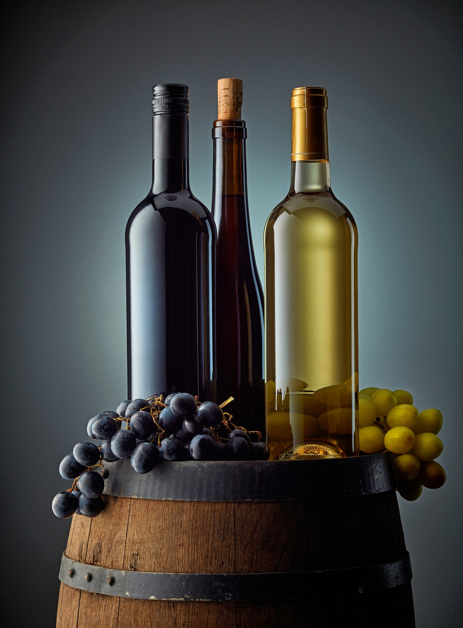 various wine bottles